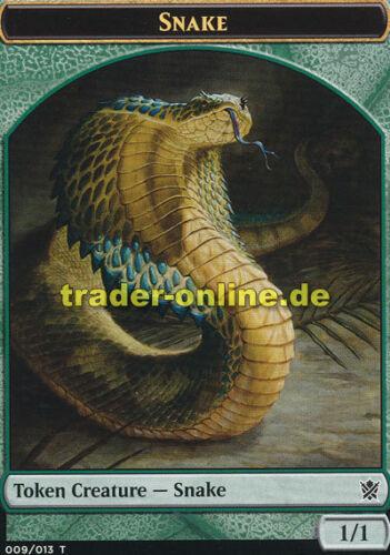 2x Token Spielstein - Ophis Snake Khans of Tarkir Magic