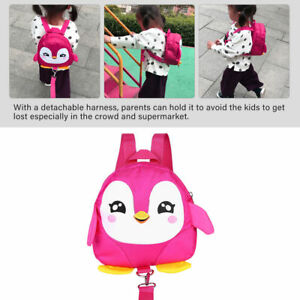 Penguin Baby Toddler Walking Safety Backpack With Leash