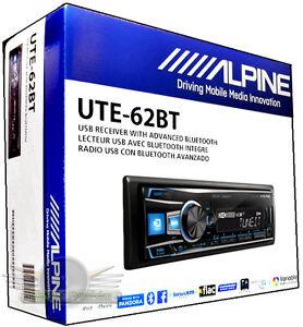 Alpine-UTE-62BT-In-Dash-FM-MP3-USB-Bluetooth-Car-Stereo-Digital-Media-Receiver
