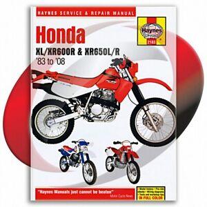 1985-2000-Honda-XR600R-Haynes-Repair-Manual-2183-Shop-Service-Garage