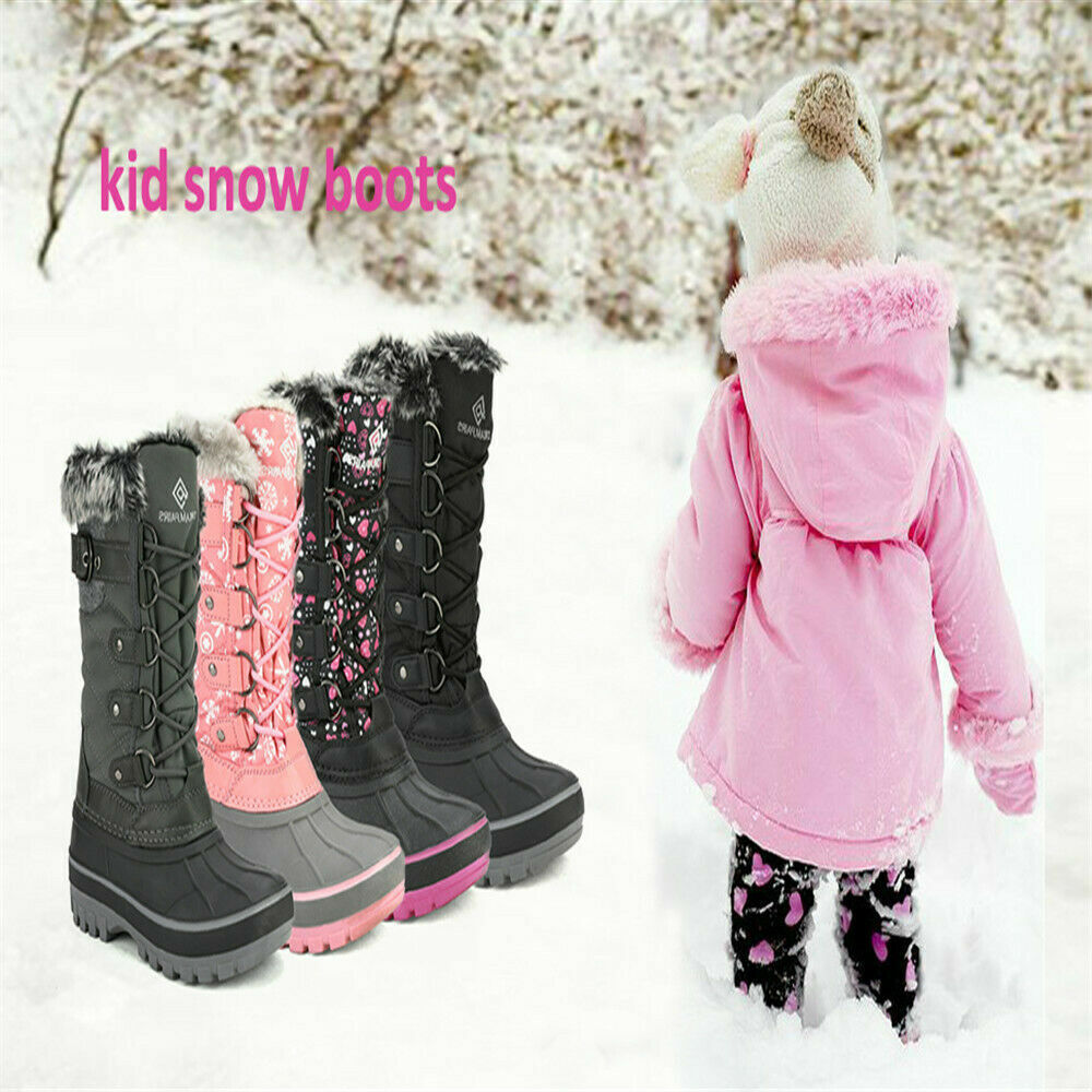 Toddler Boys Girls Cute Winter Snow Boot Faux Fur Lined Kids Ankel Boots Shoes