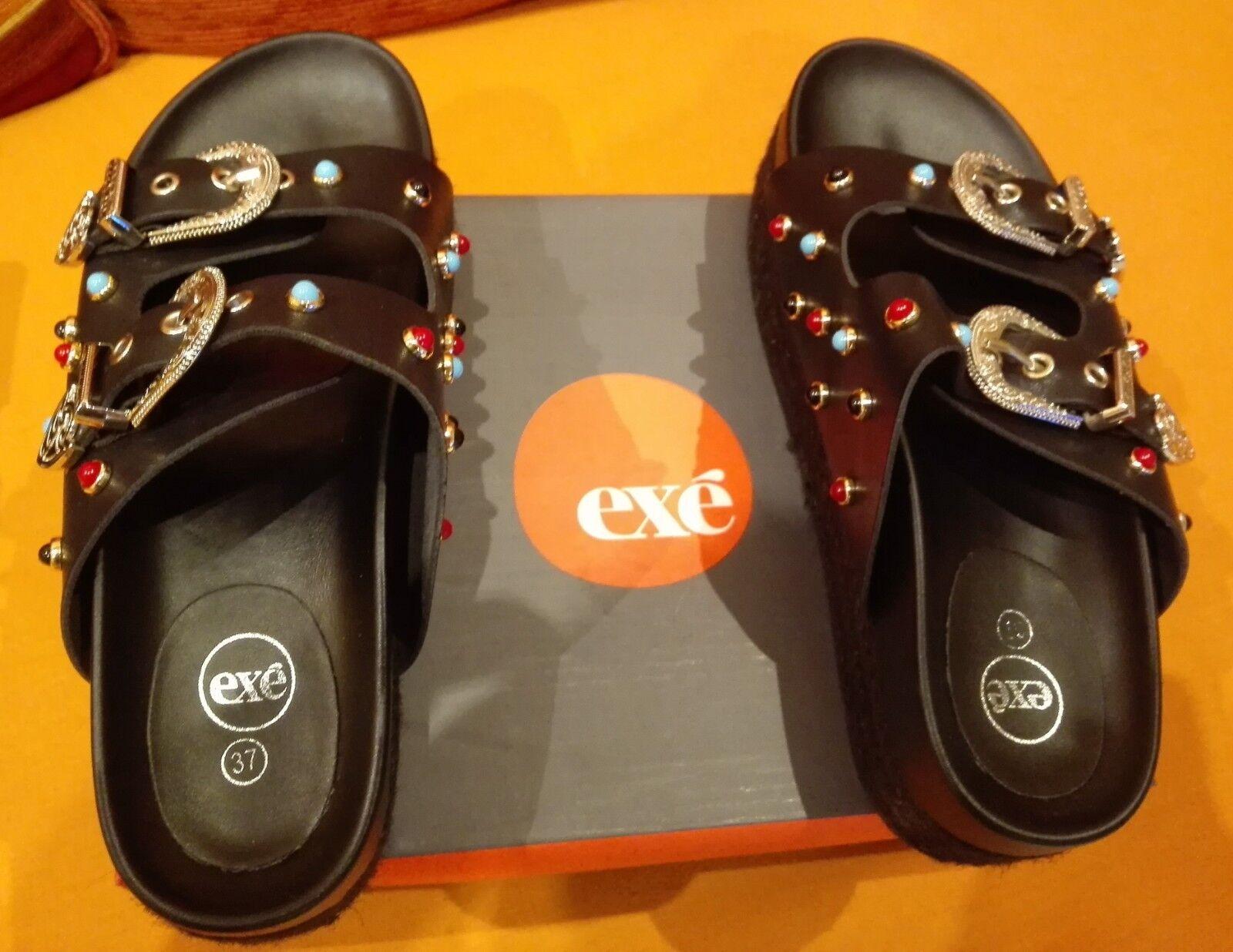 chaussures DA femmes EXE' CouleurE noir MISURA 37 SANDALO USATO OTTIMO STATO
