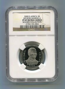 NGC-Proof-Rare-PF-63-Ultra-Cameo-South-Africa-Nelson-Mandela-Year-2000-5R-Coin