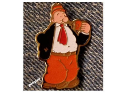 J Wellington Wimpy Brooch Pin~Eating a Hamburger ~80/'s vintage by King Features