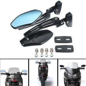 Black Motorcycle Side Mirrors For Kawasaki Ninja Zx14 Zx6 Zx6r Zx9r