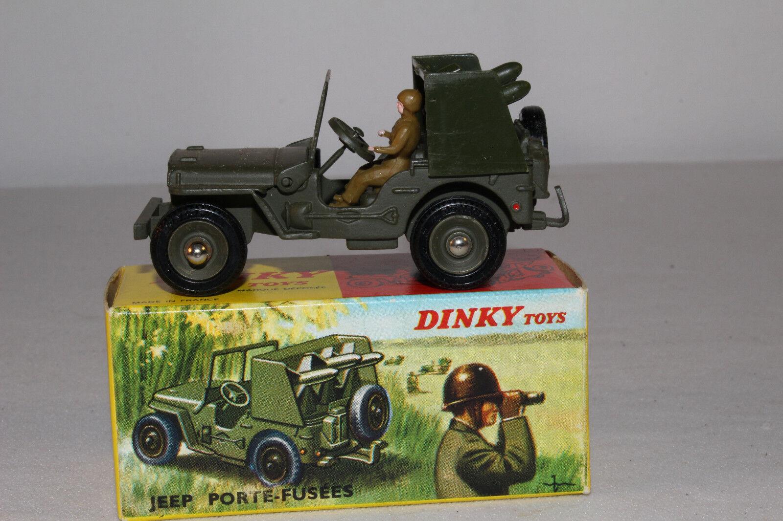 Década de 1960 francés Dinky  828 cohete portador Jeep, buen lote de  4, Con Caja Original