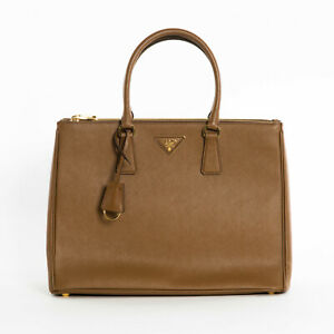 New-Prada-1BA786-F0401-Large-Saffiano-Lux-Women-039-s-Tote-Bag-Cannella-Brown-2850