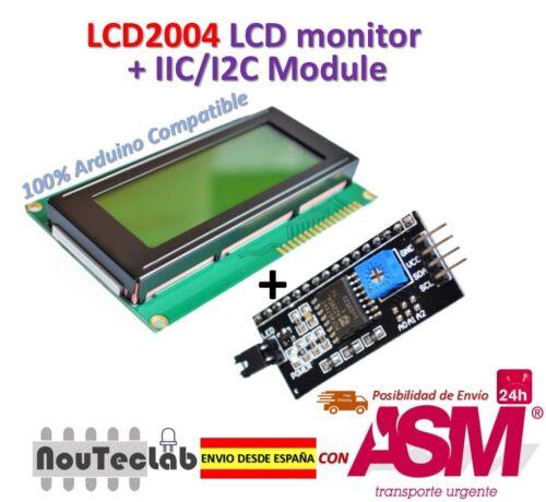 IIK I2C Modul für Arduino LCD2004 LCD Bildschirm 2004