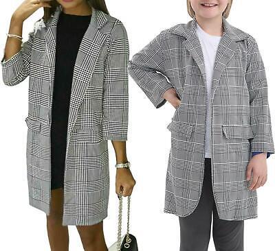 Cordiale Nuove Moda Donna Ragazze Stampa Tartan Aperto Sul Davanti Colletto Blazer Cardigan-mostra Il Titolo Originale