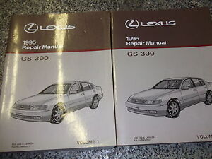 1995 lexus gs300 gs 300 service shop repair manual set two volume rh ebay com 1995 Lexus GS300 Interior 1995 lexus es300 repair manual haynes