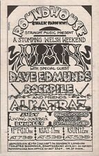 MAN DAVE EDMUNDS ALKATRAZ Roundhouse 1976 mini UK Press ADVERT 5x3 inches
