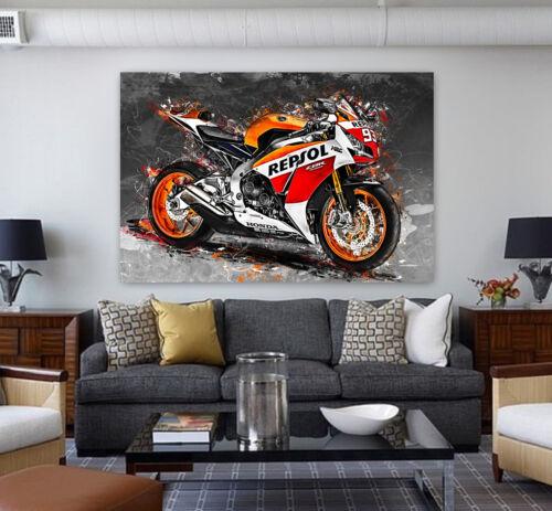 LEINWAND BILDER Honda CBR 1000 RR Repsol Bild Motorrad Wandbild Kunstdruck
