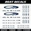 Maxum autocollants 12x voilier sport d/'eau cruise nautique bateau à moteur