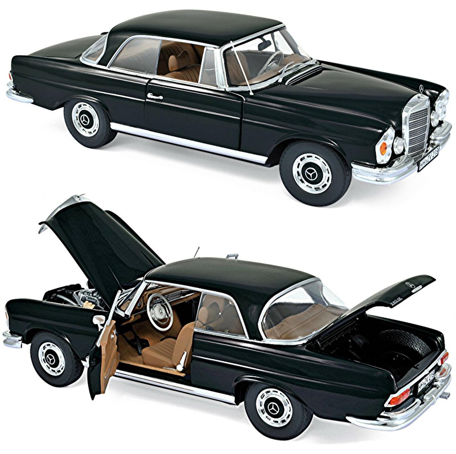 Mercedes Benz 280 se coupé w111 1969-71 negro Black 1:18 norev 183432
