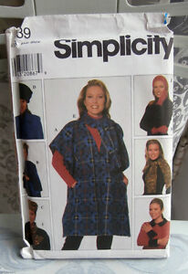 Oop-Simplicity-7839-woman-039-s-poncho-hat-scarves-one-size-XS-L-NEW