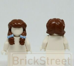 LEGO PRINCESS GIRL FEMALE LONG BROWN PONYTAIL MINIFIGURE NEW