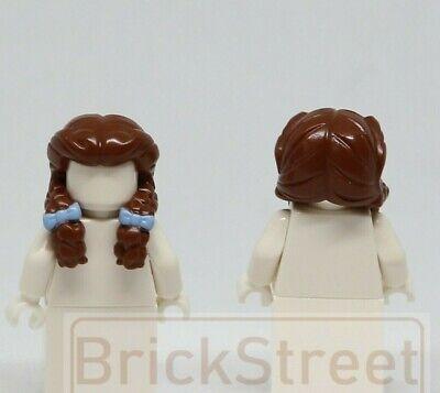 New Lego Girl Minifig Long Light BROWN HAIR Over Shoulder Female Minifigure