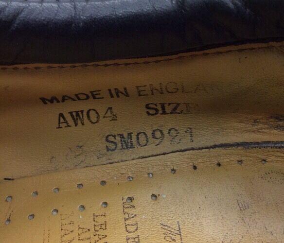 Dr Martens England The Original Air Wair England Martens AW04 Braun Leder Oxford Größe 7 SM0921 4a2426
