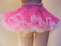 Sissy Adult Baby Fancy Dress Cerise Sequin Organza Micro Mini Frilly Skirt 11