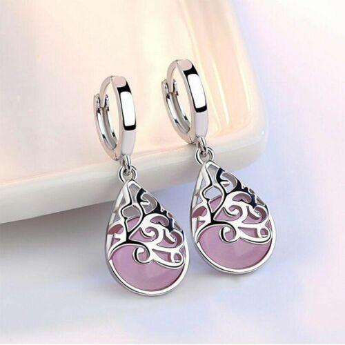 925 Sterling Silber Mondlicht Opal Tränen Tropfen Ohrringe Wassertropfe earrings
