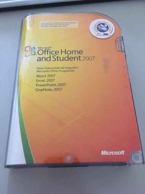 Microsoft Office 2007 Home and Student für 3 PCs - Vollversion mit CD - Deutsch