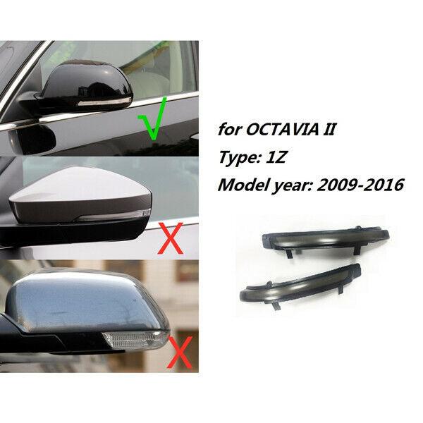 Side Mirror Blinker Indicator Replacement for S-koda O-ctavia MK2 1Z3 1Z5 S-uperb 3T4 3T5 1 Pair panthem Dynamic LED Turn Signal Light