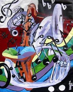 LARGE CONTEMPORARY ORIGINAL MODERN ABSTRACT JAZZ PAINTING Fine ART Dan Byl 4x5ft