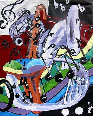 NEW LARGE CONTEMPORARY ORIGINAL MODERN ABSTRACT JAZZ PAINTING ART Dan Byl 4x5ft
