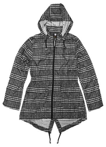 New Ladies Retro Salsa Fishtail Parka Mac Jacket Showerproof Hooded Raincoat