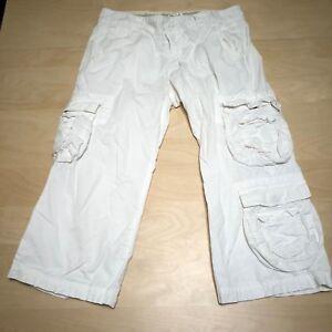 Lucky-Khaki-white-Capri-Pants-Women-039-s-sz-4-27