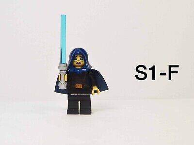 LEGO Star Wars Barriss Offee Lightsaber Dark Blue Cape Hood Jedi Minifig 9491