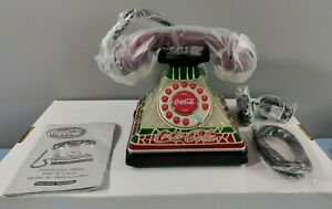 NEW COCA-COLA TELEPHONE LIGHT UP TIFFANY STYLE STAINED GLASS VINTAGE LOOK PHONE