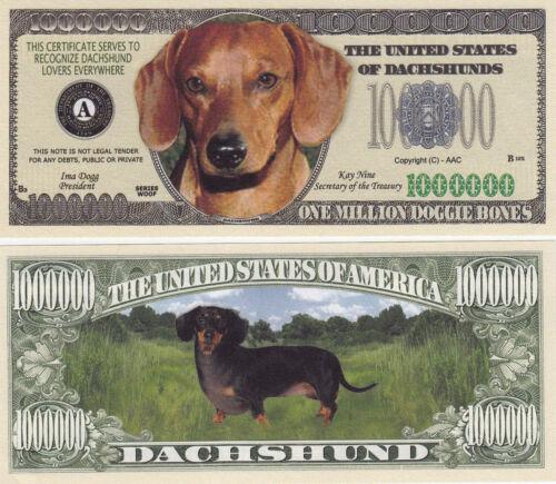 100 Dachshund K-9 Dog Collectible Novelty Money Bill #281