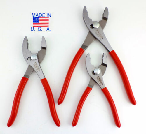 """8 /& 10"""" MADE IN USA Pliers Wilde Tool 3pc Combination Slip Joint Plier Set 6"""