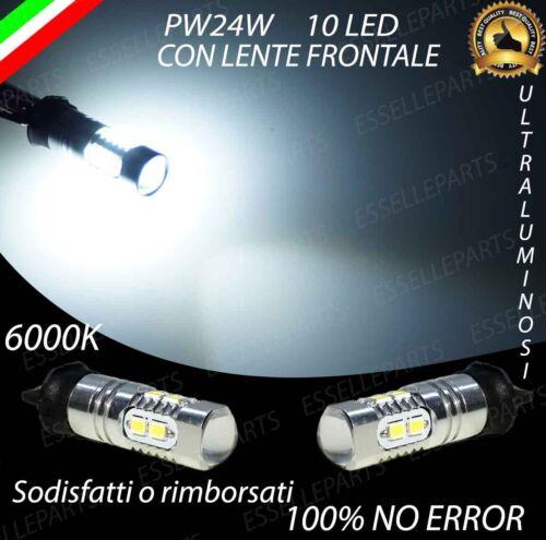 COPPIA LAMPADE PW24W 10 LED ALTA LUMINOSITA/' CANBUS 6000K BIANCO GHIACCIO
