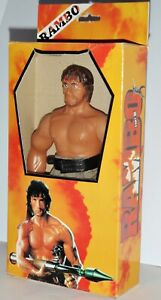 Rambo Stallone rare premier sang partie 2 action figure poupée 10   Rare Rambo Stallone First Blood Part 2 Action Figure Doll 10