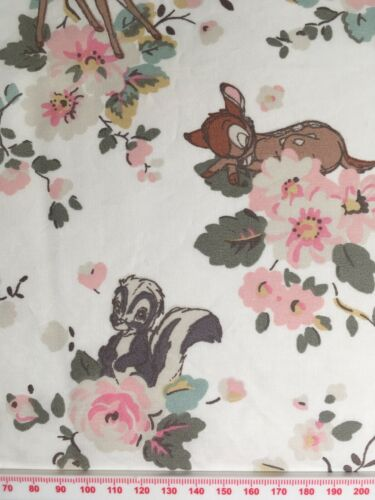 25cm X 50cm L Cath Kidston X Bambi Disney Algodón Ligero Rosa Nuevo