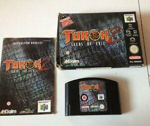 Turok 2 Seeds of Evil 64 N64 NINTENDO video Juego Totalmente Funcional En Caja