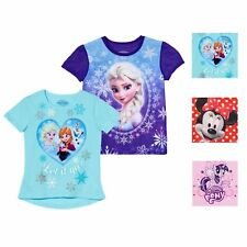 Girls/' T-Shirts In /& Out Frozen Elsa Anna Snoopy Peanuts Cinderella Princess NWT