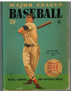 Major-League-Baseball-Facts-Figures-amp-Official-Rules-1948-Ted-Williams-Book