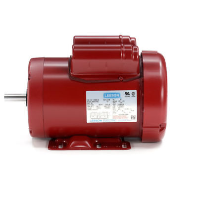 Leeson 113938.00 General Purpose Agricultural Motor 1.5HP 1 Phase 1800 RPM 115//208-230V Voltage 56HZ Frame 60Hz Fequency Rigid Mounting