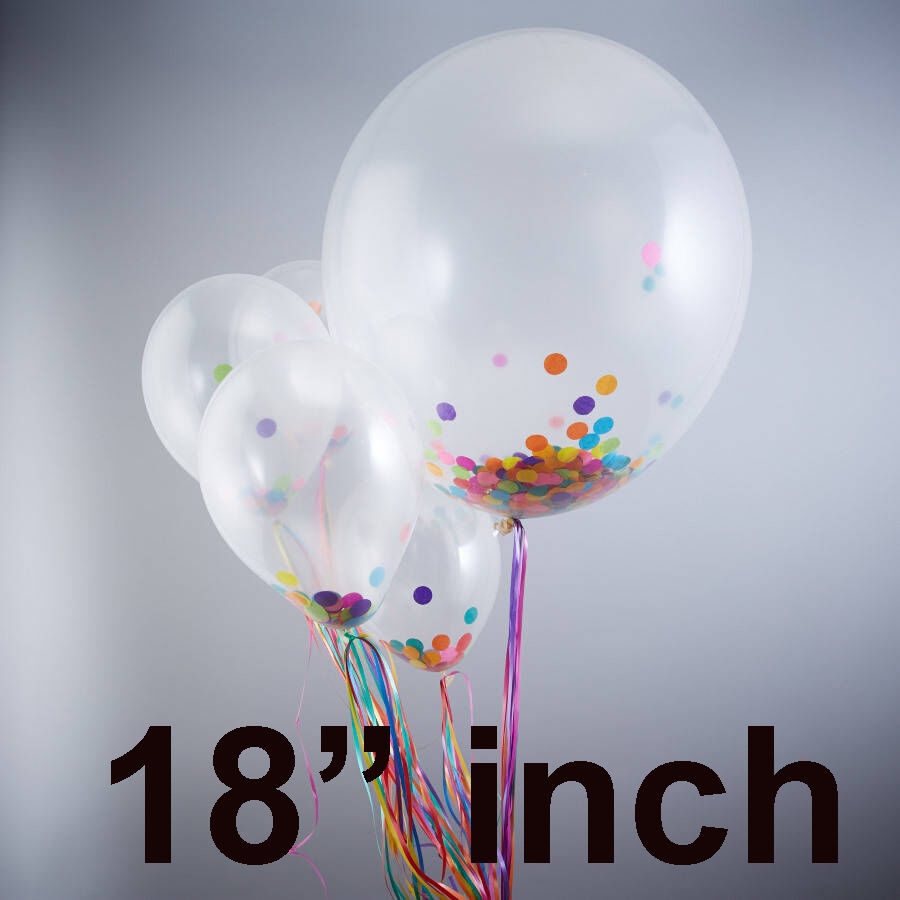 """12/"""" INCH WHOLESALE Round Clear Transparent Big Giant Balloon For Birthday NEW"""