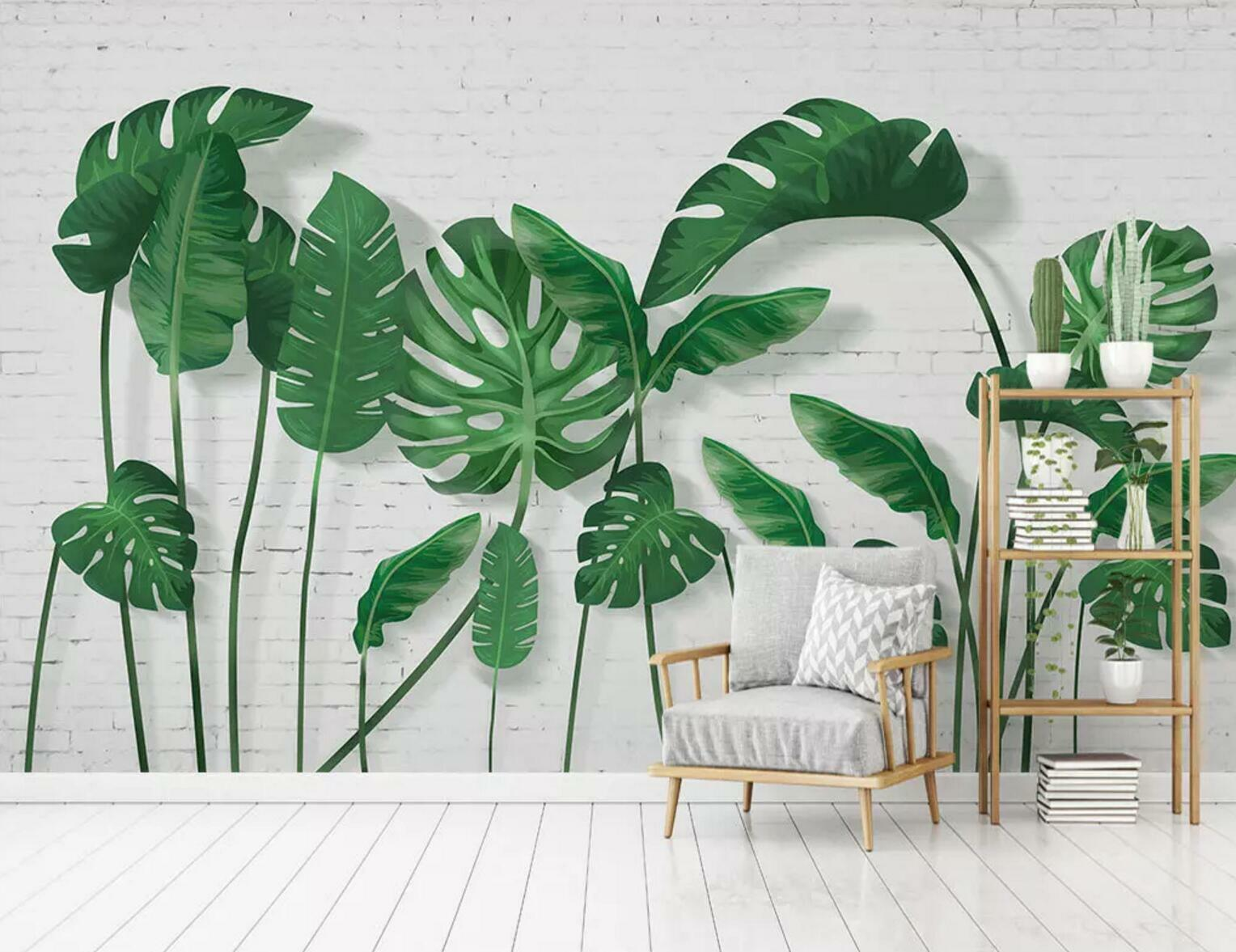 3D Grün Leaf Plant 4 Wall Paper Exclusive MXY Wallpaper Mural Decal Indoor wall