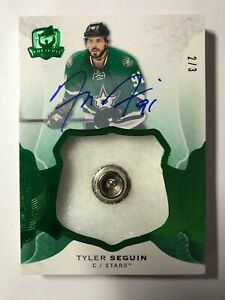 2016-17-THE-CUP-2-of-3-Green-Foil-Button-Tyler-Seguin-Auto-Dallas-Stars