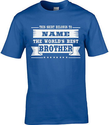 Brother Mens Personalised T-Shirt Gift Idea Relative Birthday Thank You Best