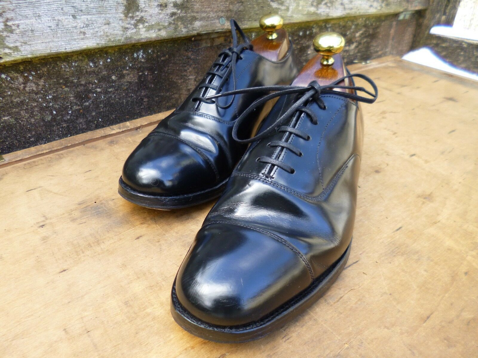 Iglesia Zapatos Oxford-Negro-UK 5.5 – CONSUL-Excelente Estado