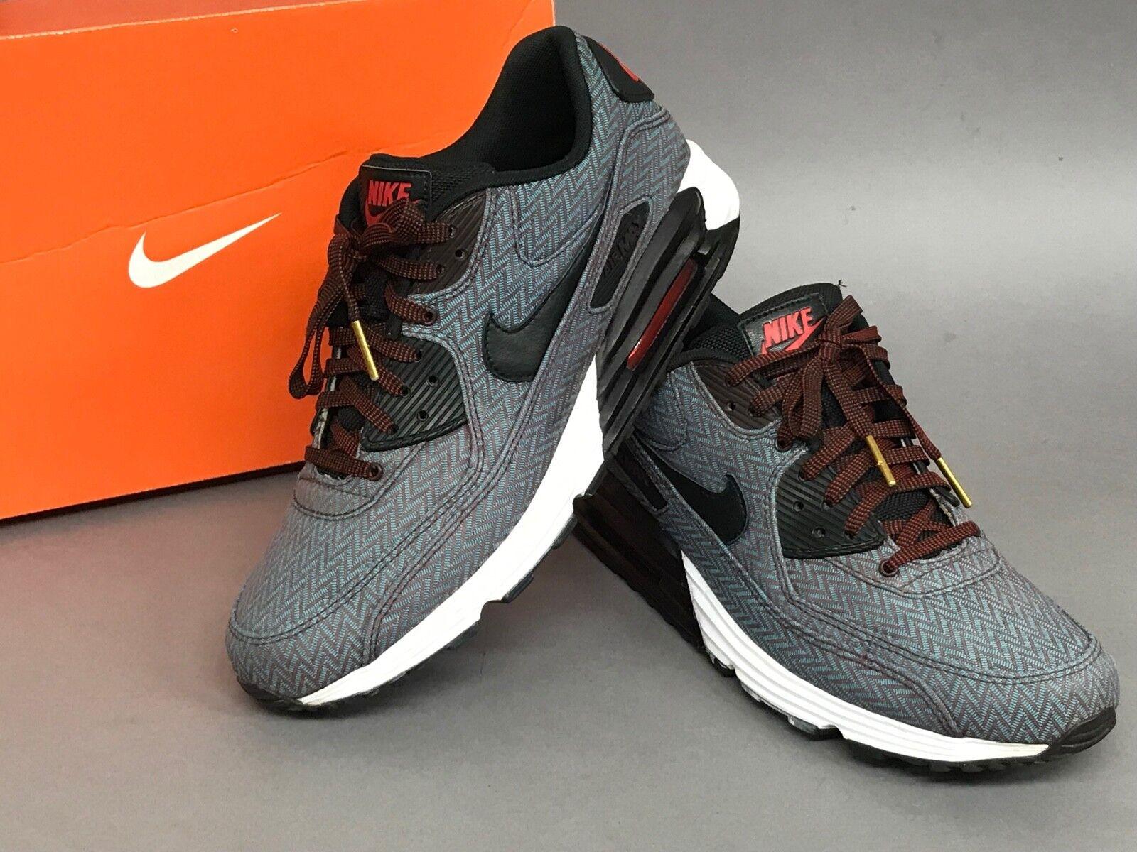 Nike Air Max Lunar 90 PRM QS Size 9.5 US 8.5 Herringbone Lunarlon