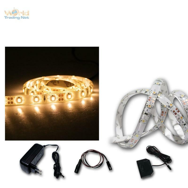 prezzi eccellenti ( m) Luce LED nastro nastro nastro 5x 1m bianco caldo Flex-Stripe 60 Smds Strisce Barra A Nastro  presa