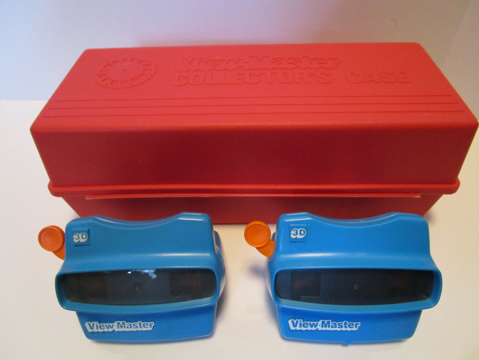 View Master Collector's Case with 2 bluee View Masters Included