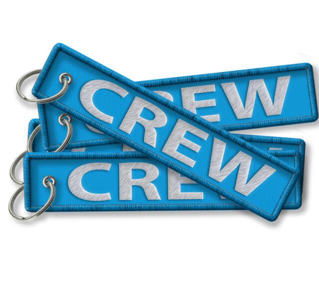 CREW LUGGAGE TAGS-LIGHT BLUE X3